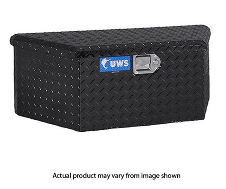 "United Welding Services 34"" Low Profile Trailer Tongue Storage Box - Black"