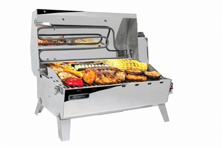 Camco Olympian Hybrid Grill - Gas or Electric