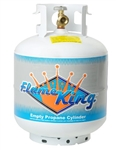 Flame King YSN201 20 Lbs. RV Propane Cylinder with with Type 1 Overflow Protection Device Valve