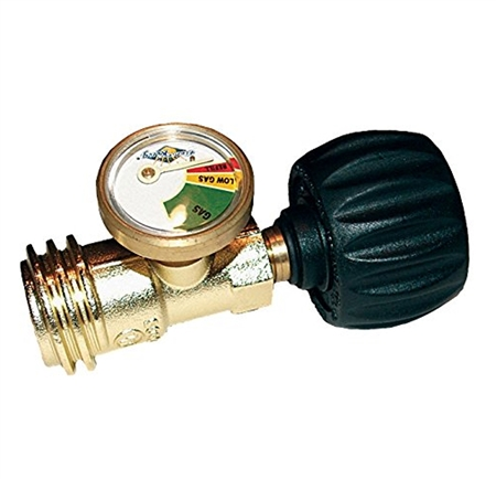 Flame King RV Propane Gas Gauge Meter - Type 1 Connection