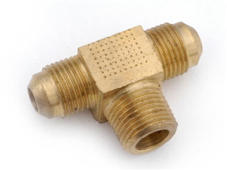 "Anderson Brass Tee Flare to MPT Threads - 1/2"" x 1/2"" x 1/2"""