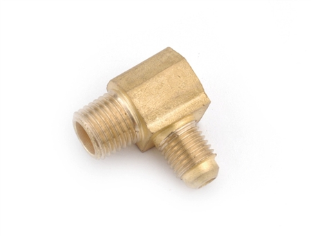 "Anderson Brass Half Union Elbow Male Pipe Thread To Male Flare - 3/8"" x 1/4"""