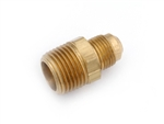 "Anderson Brass Half Union Coupling Male Flare To Male Pipe Thread - 3/8"" x 1/4"""