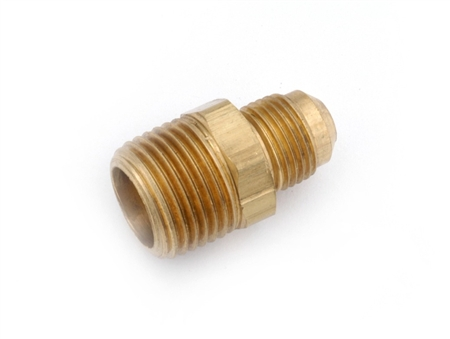 "Anderson Brass Half Union Coupling Male Flare To Male Pipe Thread - 1/2"" x 3/8"""