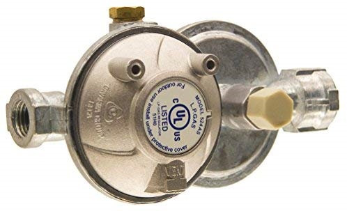 Cavagna 52-A-490-0020 Two Stage Propane Regulator With Shutoff Valve - 1/4""