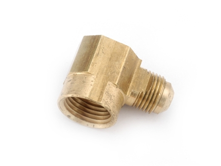 "Anderson Brass Male Flare To Female Pipe Thread Elbow - 3/8"" x 1/2"""