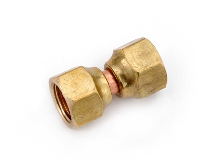Anderson Metals Brass Swivel Nut Female Flare Connector - 3/8""