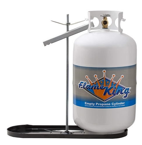 Flame King KT40MNT Dual RV Propane Tank Rack With Hold Down Clamp