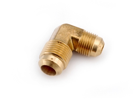 "Anderson Metals Brass Male Flare Reducing Elbow - 1/2"" x 3/8"""