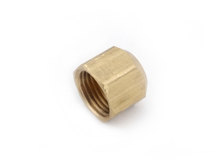 Anderson Metals Brass Female Flared Nut Cap - 3/8""