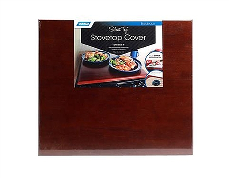 Camco 43526 RV StoveTop Cover Silent Top - Bordeaux