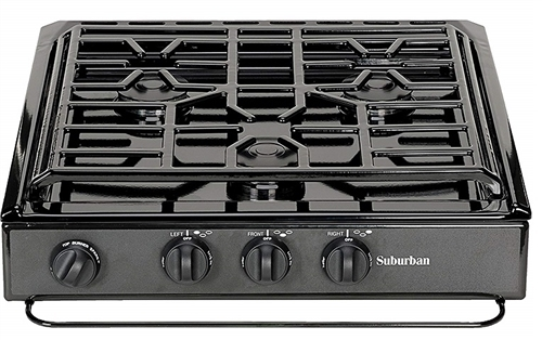 Suburban Manufacturing 3231A Slide-In Cook-Top- Black