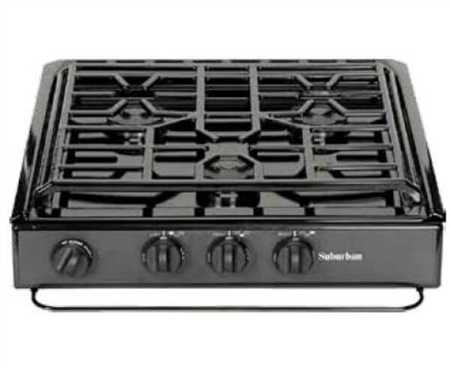 Suburban 3233A 3 Burner Slide-In RV Cooktop Stove - Spark Ignition with Sealed Burners