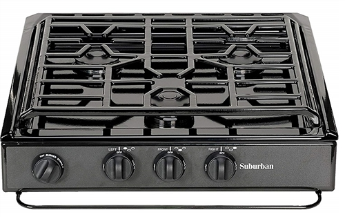 Suburban Manufacturing 3200A Conventional Slide-In Cook-Top- Black
