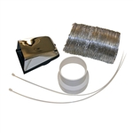 Pinnacle 18-1063 Outside RV Dryer Vent Kit - Chrome