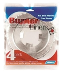 Camco 43800 RV Gas Stove Burner Liners - 4 Pack