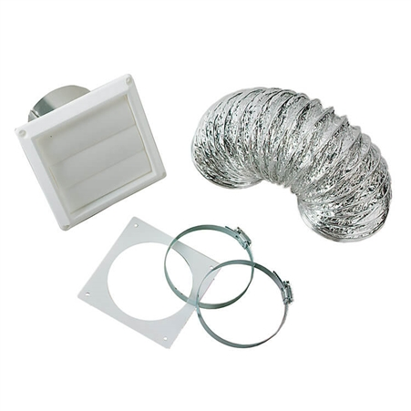 "Splendide VI422 Paintable 4"" Dryer Vent Kit with Louvered Cover"