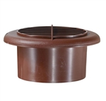RV Designer H805 Round Rotaire RV Vent With Damper - Walnut