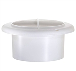 RV Designer H820 Round Rotaire RV Vent With Damper - White