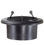 RV Designer H815 Round Rotaire RV Vent With Damper - Black