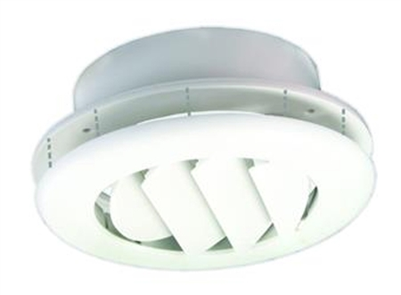 JR Products ACG150DPW-A Coolvent Adjustable Ceiling Vent- Polar White