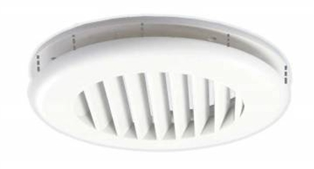 JR Products CG25PW-A Coolvent Snap-On Ceiling Vent- Polar White