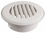"JR Products HV4PW-A 4"", Polar White Thermo Vent Ducted Heat Vent Without Damper"