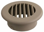 "JR Products HV4TN-A ThermoVent Ducted Heat Vent Without Damper - 4"" - Tan"