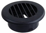 "JR Products HV4DBK-A 4"" Thermovent Ducted Heat Vent With Damper- Black"