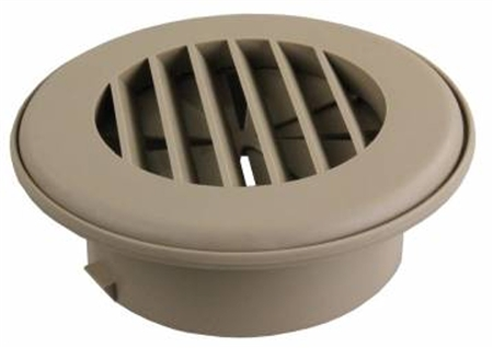 "JR Products HV4DTN-A 4""  Thermovent Ducted Heat Vent With Damper- Tan"