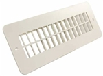 JR Products 288-86-A-PW-A Polar White RV Floor Register Undampered