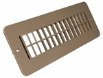 JR Products 288-86-A-TN-A RV Floor Register - Undampered - Tan
