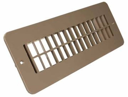 JR Products 288-86-A-TN-A RV Undampered Floor Register- Tan