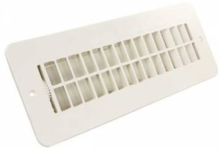 JR Products 288-86-AB-PW-A RV Dampered Floor Register- Polar White