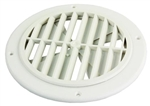 JR Products GRILL2D-A Ceiling Vent With Damper - Polar White