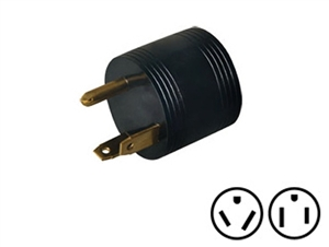 Surge Guard 09522-55-08 30Amp to 15Amp Reverse Round Molded Adapter
