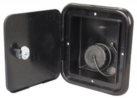JR Products JFE13-A Gravity Water Hatch- Black