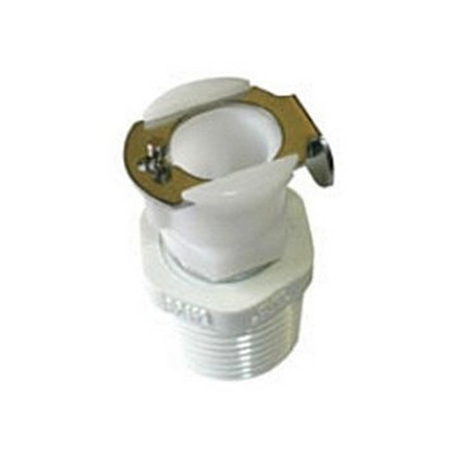 "Camco 1/2"" Quick Connect Coupling Body With Shut Off Valve"
