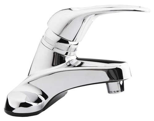 Chrome Single Lever Plastic Bathroom Faucet