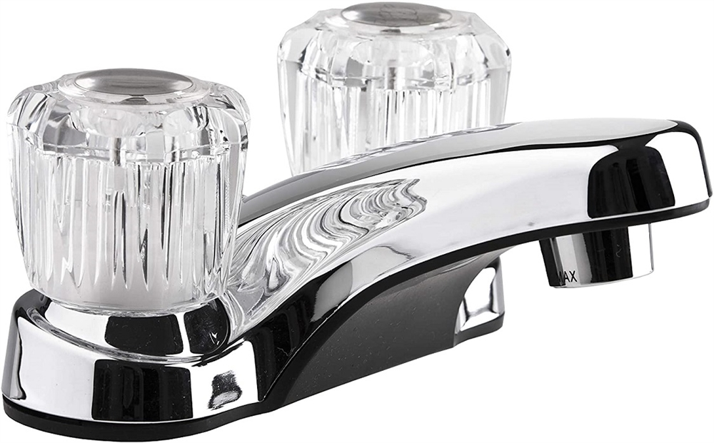 Dura Faucet DF-PL700A-CP Lavatory Faucet With Crystal Acrylic Knobs