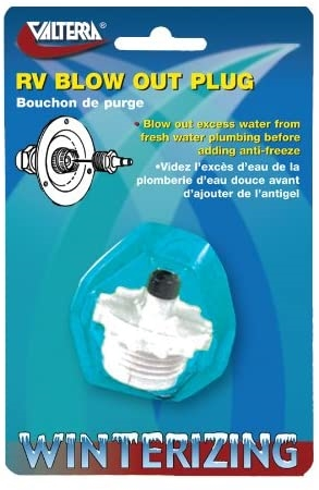 Aqua Pro 27898 RV Water System Blow Out Plug