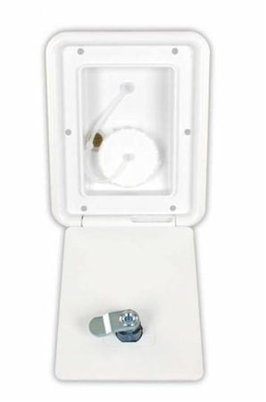 JR Products A6112-A Gravity Water Hatch- Polar White