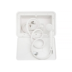 Dura Faucet DF-SA170-WT RV Exterior Shower Box Kit - White