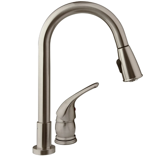Dura Faucet Satin Nickel Brass Pull down Kitchen Faucet