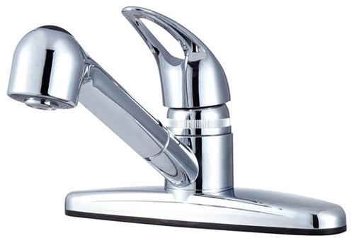 Chrome Non-Metallic Pull-Out RV Kitchen Dura Faucet