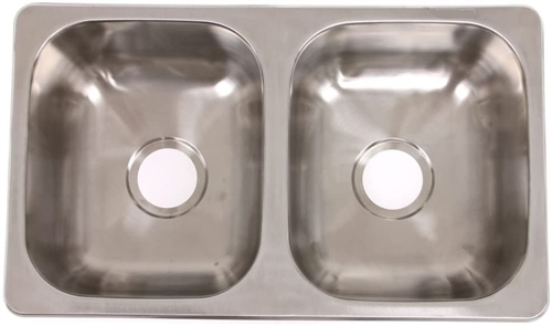 "LaSalle Bristol 13TLSB27167 RV Double Bowl Sink - 27"" X 16"""
