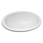 "Lasalle Bristol 16156PW Oval Sink 10""X13"" With Cleanout Plug - White"