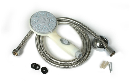 Camco Shower Head Kit - Off-White