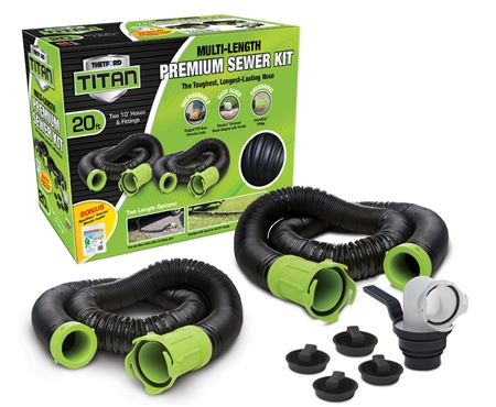 Thetford 17902 Titan RV Sewer Hose Kit System - 20 Ft.