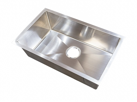 Lippert Components 385313 Better Bath Stainless Steel Single Bowl Square Sink